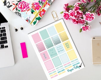 spring planner stickers for use with Erin Condren Life planner.