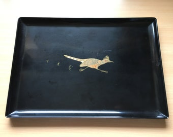 Vintage Westart Inlays Anthony of California Roadrunner Tray