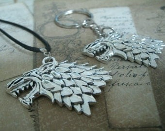 Necklace - Keychain - Earrings House Stark from Game of Thrones