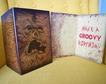 Necronomicon Ex-Mortis Evil Dead Book of the Dead Horror Birthday Greeting Card