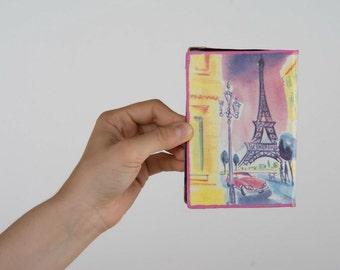Passport cover made using decoupage technique