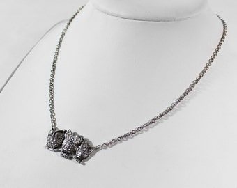 Owls in 925 Silver necklace