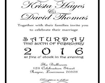 Custom Made Wedding Invitation Suite