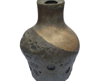 Brown and Mustard Belly Vessel