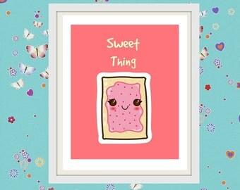 Sweet thing-breakfast-kitchen-kids room children room-mint-printables-home decor-poster-instant download-digital download-diy-wall art-mom