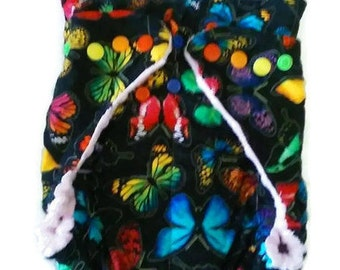 Butterfly Fitted Diaper Baby Size 8-12lbs