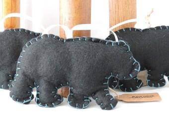 Felt Black Bear w Hanger