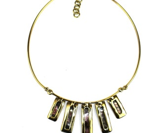 Horizon Copper and Brass Bars Necklace
