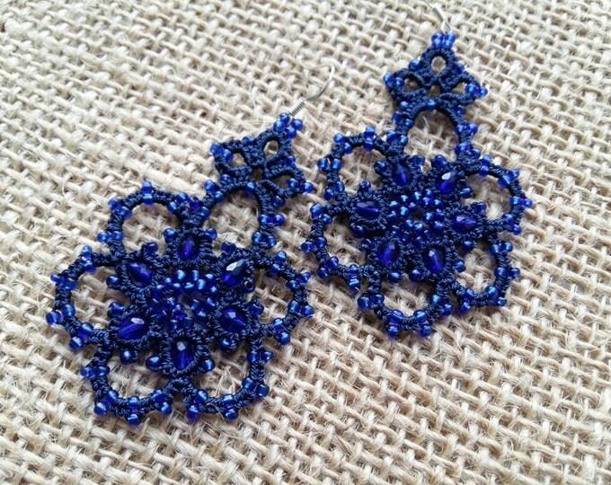 lace earrings, mystery