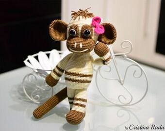 Monkey plush, Crochet Monkey, Stuffed Monkey, Amigurumi Monkey, Cappuccino Monkey, Monkey plushie, Toy Monkey, Symbol Chinese New Year 2016