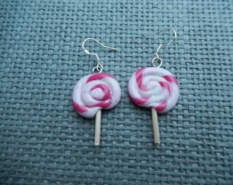 Lolly glitter fimo earrings