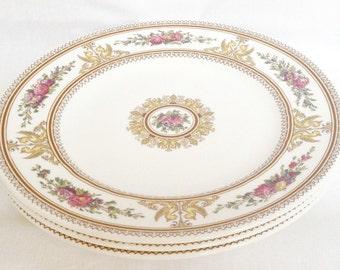 Columbia salad plates - set of 3 side plates - vintage Wedgwood Columbia W595