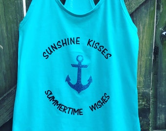 Sunshine Kisses and Summertime Wishes Tank