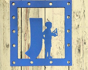 Child and Initial Monogram