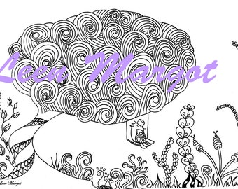 mini book, 5 illustrations, 5 drawings