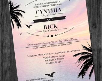 Destination Wedding Reception Invitation