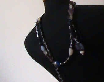 Jewellery , long necklace with semi precious stones