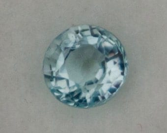 Natural Aquamarine Round Cut 6.2mm
