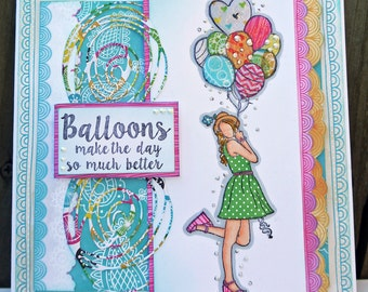 Balloons make the day so much better greeting card