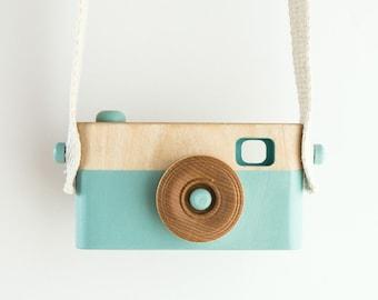 Wooden Toy Camera, Wooden Toys, Baby Birthday Gift, Toddler Birthday Gift, Light Blue