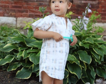 On sale. Abstract plaid shirtdress. Tunic dress. SS16.