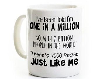 Math Gag Gift - One in a Million - Funny Coffee Mug for Math Teacher Student