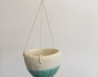 Turquoise Hanging Planters