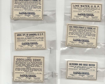 10 Vintage Drug Store and Pharmacy Labels (Lot M1)-Morwessel's Pharmacy (Covington, Kentucky)