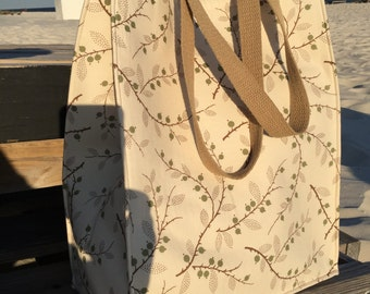 Floral shopper tote bag