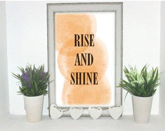 Rise and shine digital print.