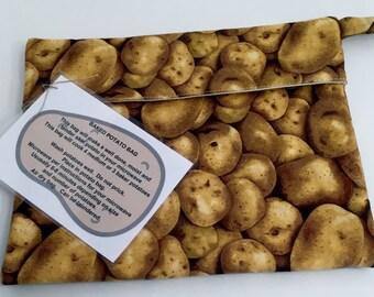 Microwave Potato Bag - Brown Potato fabric