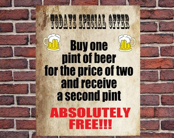 PERSONALISED Funny Metal Wall Sign for Man Cave Den Bar Pub Father's Day Dad Grandad Gift Birthday Present