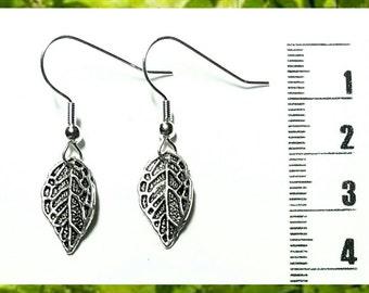 Little Silver Leaf Earrings