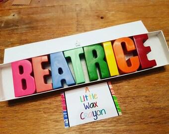 8 Letter Crayon Name Set