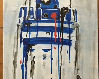 R2D2 Drip Painting