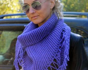 Hand knit shawl Knitted shawl Knit wraps shawl Triangular shawl Knitted warm soft shawl READY TO SHIP