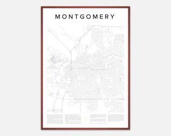 Montgomery Map Print