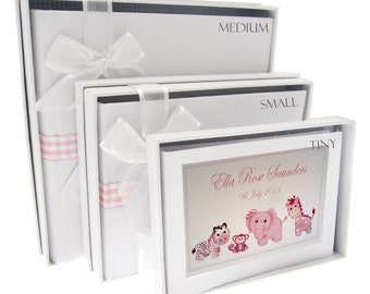 Personalised New Baby Photo Album - Pink Toys Design PL2