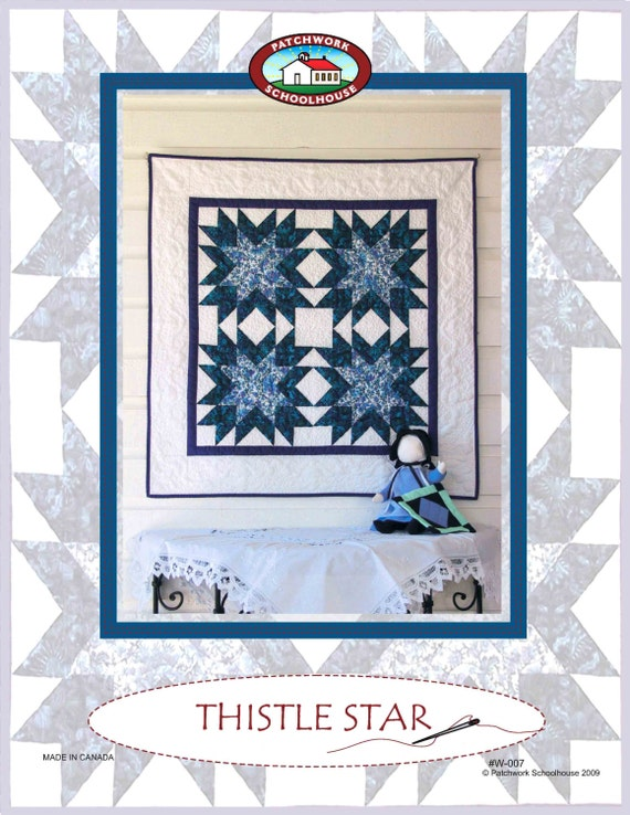 Free Quilt Pattern Thistle Star Wall Hanging Easy Quilt