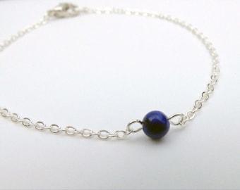 Tiny Lapis Bracelet