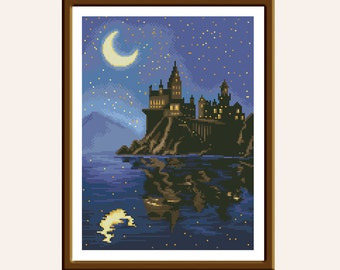 BUY 2 GET 1 FREE. Modern cross stitch pattern Hogwarts cross stitch pattern Harry Potter cross stitch patterns baby cross stitch pattern