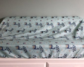 Change Mat Cover / Bassinet Fitted Sheet  /Little Deer /Ready To Ship