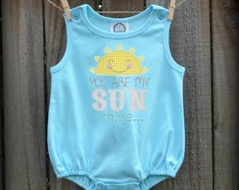 Baby Romper - You Are My Sunshine - Made In The USA!