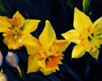 Daffodil Oil Painting