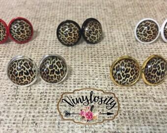 Leopard Print Earrings | Leopard Earrings | Stud Earrings | 12mm Earrings