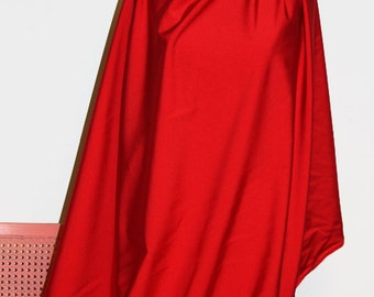 Red Shiny Tricot Nylon Spandex Lycra Fabric Bright High Quality 4-Way Stretch
