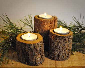 Wood Candle-holder