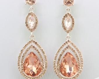 Blush earrings | Etsy