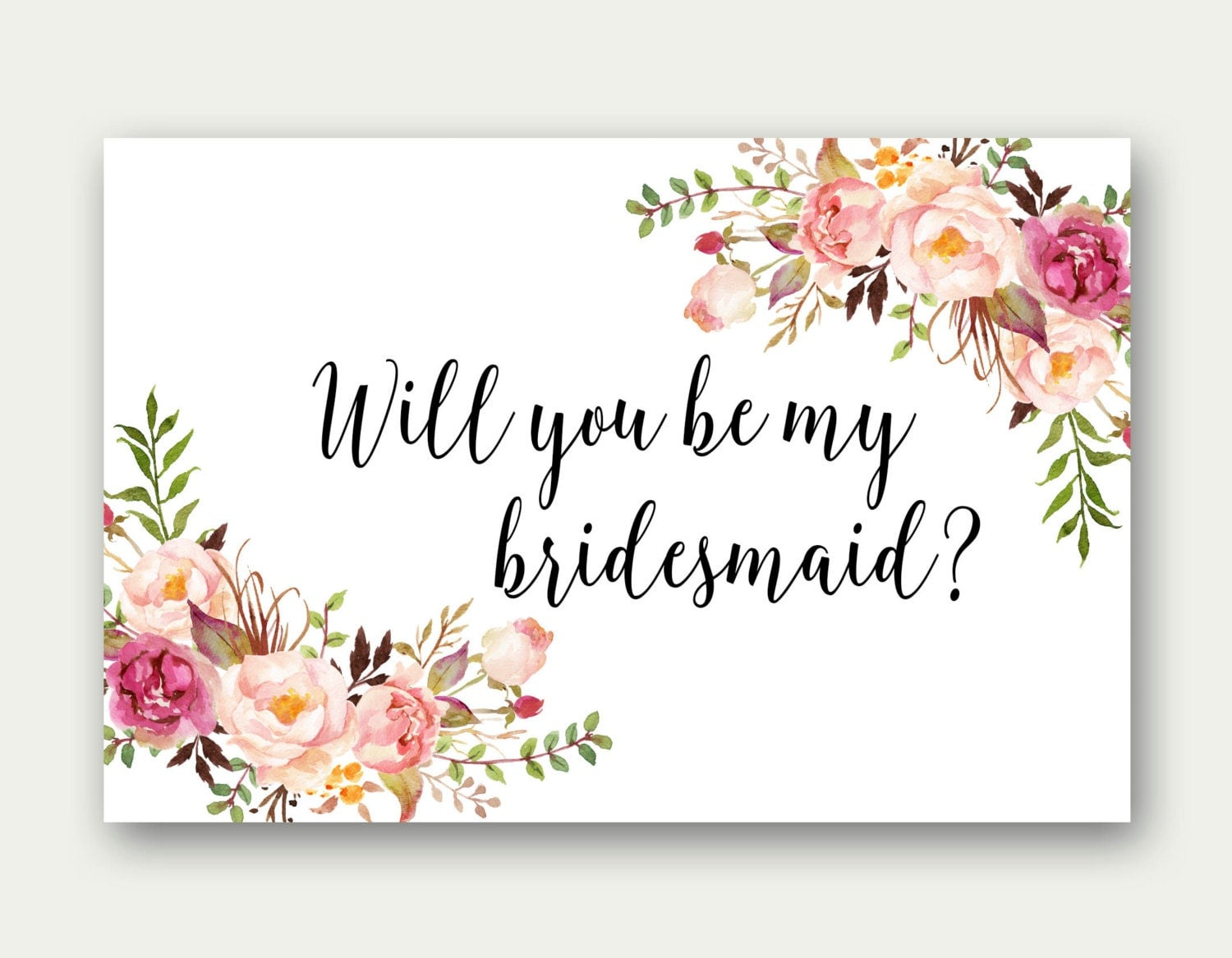 Influential image within printable will you be my bridesmaid