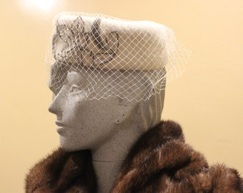 Vintage 1950's/1960's Pillbox Hat